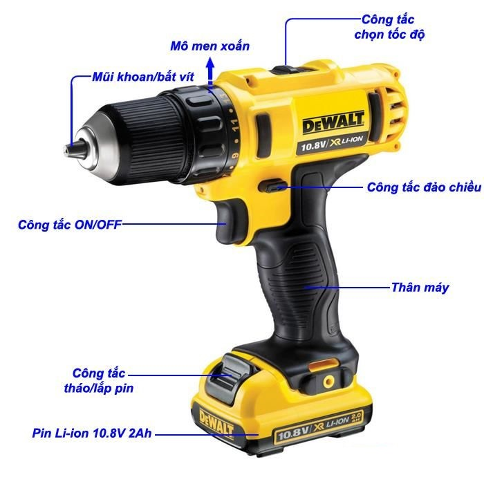 máy khoan vặn vít dùng pin Dewalt DCD710D2-B1