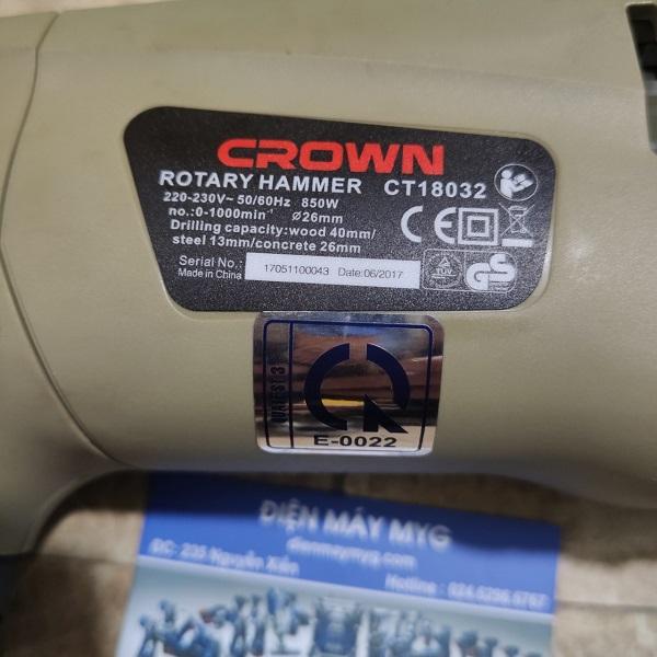 Máy khoan bê tông Crown CT18032