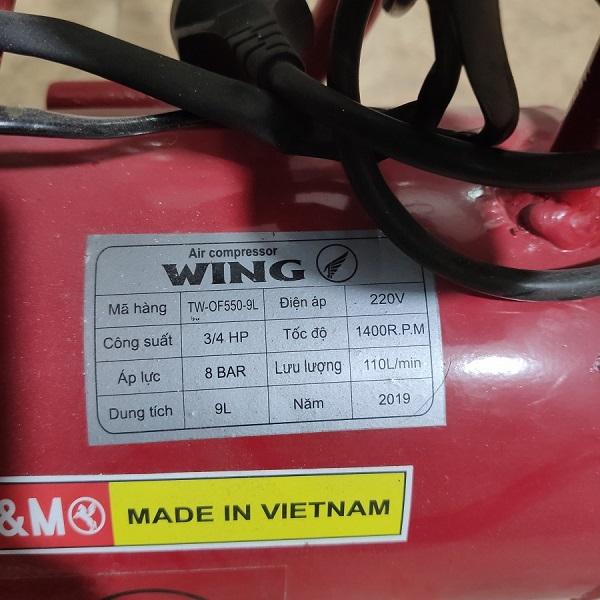 Máy nén khí Wing 9L TW-OF550-9L