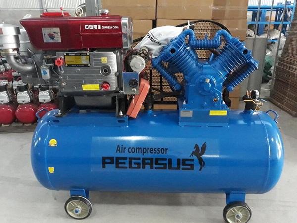 Máy nén khí chạy dầu diesel 500L 10Hp Pegasus TM-W-1.0/8-500L