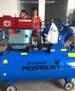 Máy nén khí chạy dầu Diesel 500L 10Hp