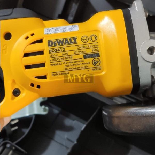 máy mài góc dùng pin Dewalt DCG412